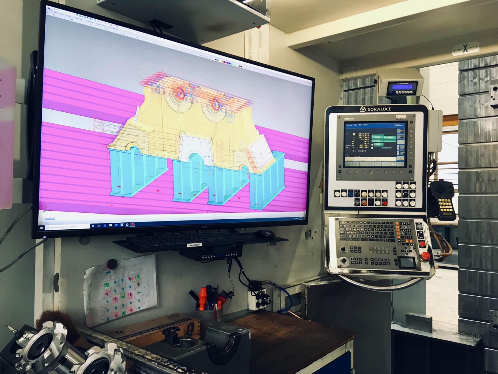 Bildschirm 55 Zoll Fräsmaschine 2
